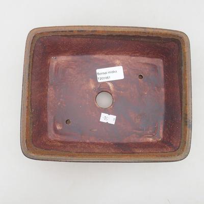 Keramische Bonsai-Schale 21,5 x 18 x 7 cm, Farbe braun - 3