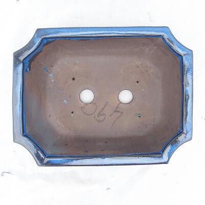 Bonsaischale 31 x 24 x 10 cm, Farbe blau - 3
