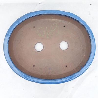 Bonsaischale 38 x 31 x 5 cm, Farbe blau - 3