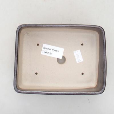 Keramische Bonsai-Schale 15 x 10,5 x 5 cm, braune Farbe - 3