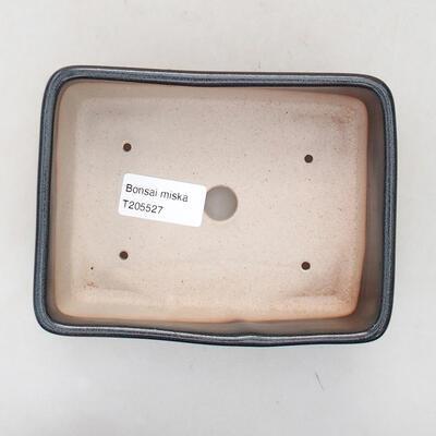 Keramische Bonsai-Schale 15 x 10,5 x 5 cm, graue Farbe - 3