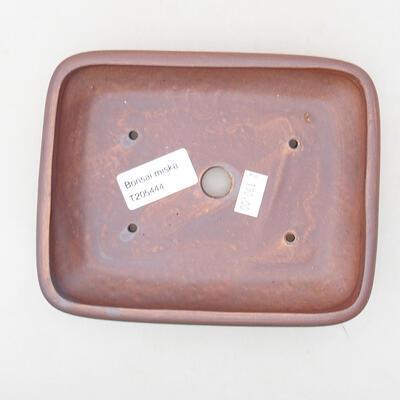 Keramische Bonsai-Schale 15,5 x 12,5 x 3 cm, graue Farbe - 3