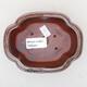 Keramische Bonsai-Schale 12,5 x 9,5 x 5 cm, braun-schwarze Farbe - 3/3