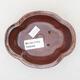 Keramische Bonsai-Schale 12 x 10 x 4,5 cm, Farbe braun - 3/3