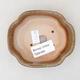 Keramische Bonsai-Schale 10 x 8,5 x 3 cm, braune Farbe - 3/3