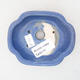 Keramische Bonsai-Schale 10 x 8,5 x 3 cm, Farbe blau - 3/3