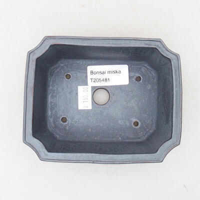 Keramische Bonsai-Schale 12,5 x 10 x 4 cm, Metallfarbe - 3