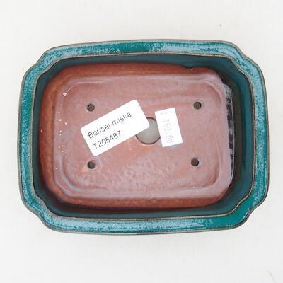 Keramische Bonsai-Schale 13 x 10 x 3,5 cm, Farbe grün - 3