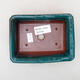 Keramische Bonsai-Schale 13,5 x 10 x 3,5 cm, Farbe grün - 3/3