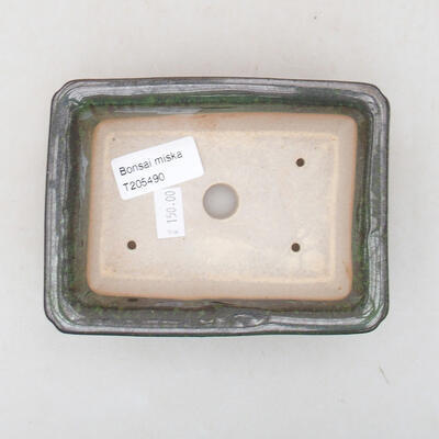 Keramische Bonsai-Schale 13,5 x 10 x 3,5 cm, Farbe grün - 3