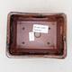 Keramische Bonsai-Schale 13 x 10 x 5 cm, Farbe schwarzbraun - 3/3