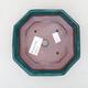Keramische Bonsai-Schale 13 x 13 x 4 cm, Farbe grün - 3/3