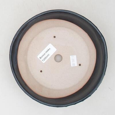 Keramische Bonsai-Schale 18 x 18 x 5 cm, Farbe grau - 3