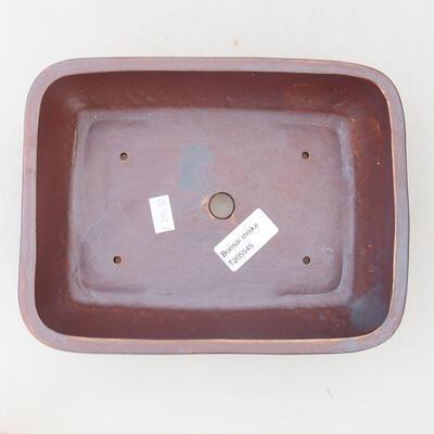 Keramische Bonsai-Schale 22 x 17 x 7 cm, graue Farbe - 3