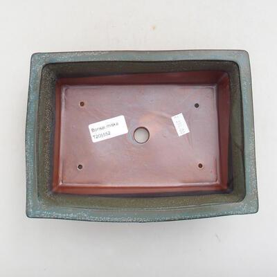 Keramische Bonsai-Schale 20 x 15,5 x 6 cm, graue Farbe - 3