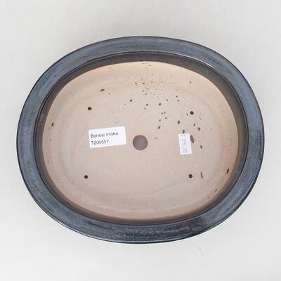 Keramische Bonsai-Schale 22 x 18 x 7,5 cm, graue Farbe - 3