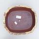 Keramische Bonsai-Schale 23,5 x 20 x 7 cm, gelbbraune Farbe - 3/3