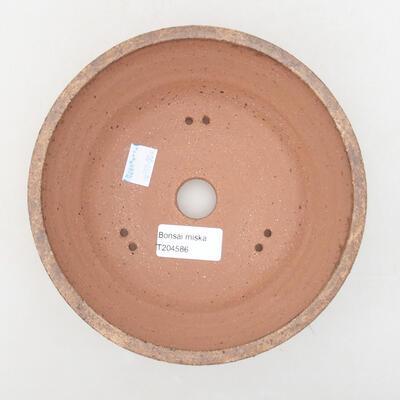 Keramische Bonsai-Schale 17 x 17 x 6,5 cm, braune Farbe - 3