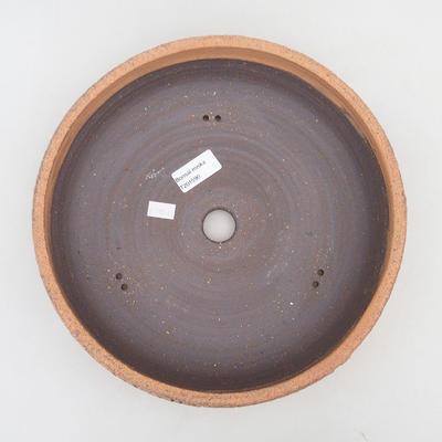Keramische Bonsai-Schale 26,5 x 26,5 x 7 cm, rissige Farbe - 3
