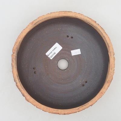 Keramik Bonsai Schüssel 21 x 21x 7 cm, Farbe rissig - 3