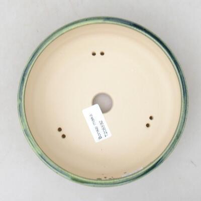 Keramische Bonsai-Schale 19 x 19 x 6,5 cm, braune Farbe - 3