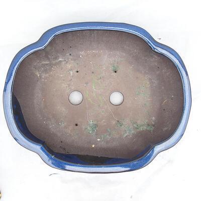 Bonsaischale 41 x 33 x 15 cm, Farbe blau - 3