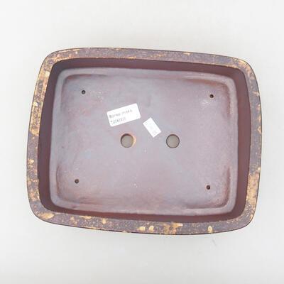 Keramische Bonsai-Schale 25 x 19,5 x 6,5 cm, Farbe braun-gelb - 3