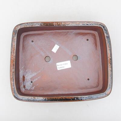 Keramische Bonsai-Schale 25 x 19,5 x 6,5 cm, Farbe schwarzbraun - 3