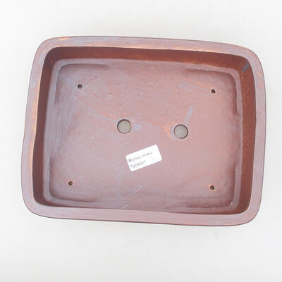 Keramische Bonsai-Schale 25 x 19,5 x 6,5 cm, graue Farbe - 3