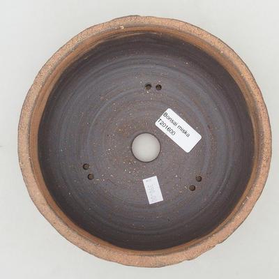 Keramische Bonsai-Schale 18 x 18 x 7,5 cm, Farbe rissig - 3