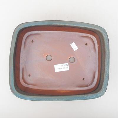 Keramische Bonsai-Schale 24 x 19 x 7 cm, graue Farbe - 3