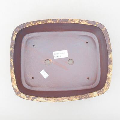 Keramische Bonsai-Schale 24 x 19 x 7 cm, Farbe gelbbraun - 3