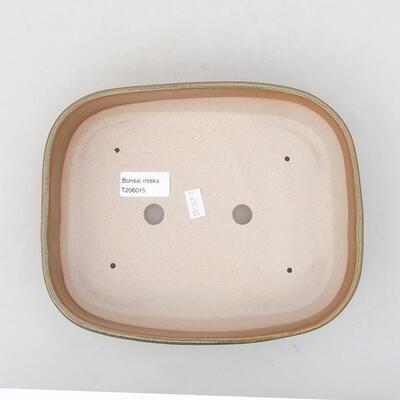 Keramische Bonsai-Schale 23 x 17,5 x 5 cm, braune Farbe - 3