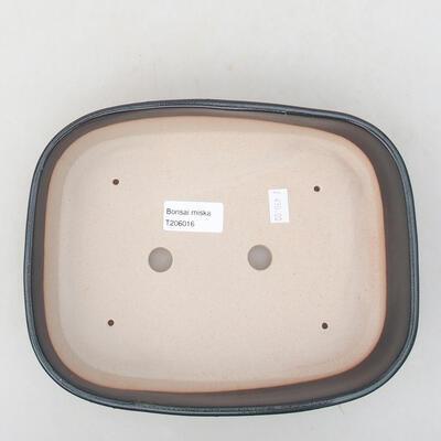 Keramische Bonsai-Schale 23 x 17,5 x 5 cm, graue Farbe - 3