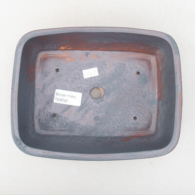 Keramische Bonsai-Schale 21,5 x 16,5 x 6,5 cm, Metallfarbe - 3
