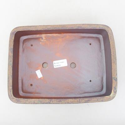 Keramische Bonsai-Schale 26 x 20 x 8 cm, Farbe braun - 3