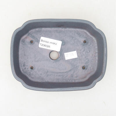 Keramische Bonsai-Schale 15 x 11 x 4 cm, Metallfarbe - 3