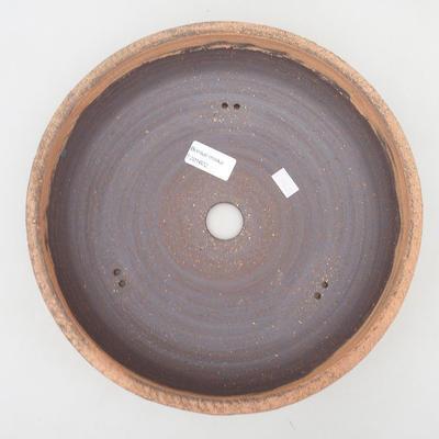 Keramische Bonsai-Schale 27,5 x 27,5 x 7 cm, Farbe rissig - 3