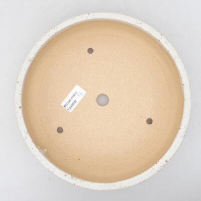 Keramische Bonsai-Schale 22,5 x 22,5 x 6 cm, beige Farbe - 3