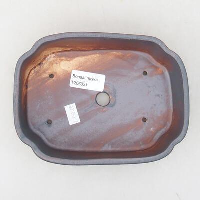 Keramische Bonsai-Schale 17,5 x 13,5 x 5 cm, Metallfarbe - 3