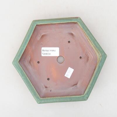 Keramische Bonsai-Schale 18 x 16 x 3,5 cm, Farbe grün - 3