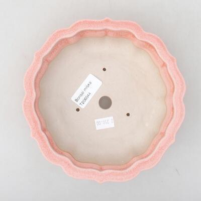 Keramik Bonsai Schüssel 17 x 17 x 4,5 cm, Farbe rosa - 3