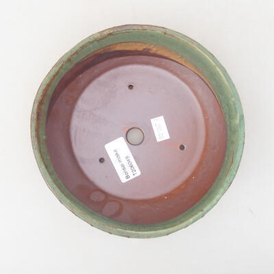 Keramische Bonsai-Schale 17 x 17 x 4,5 cm, Farbe grün - 3