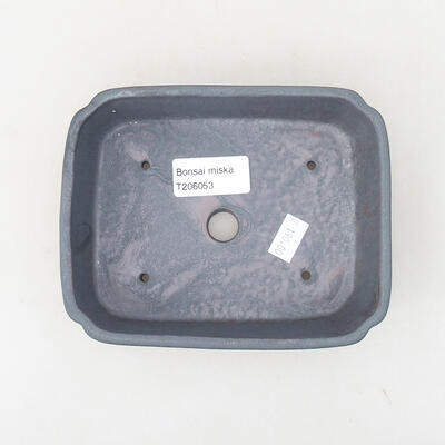 Keramische Bonsai-Schale 15 x 11,5 x 4 cm, Metallfarbe - 3