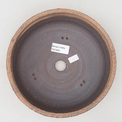 Keramische Bonsai-Schale 21 x 21 x 7 cm, Farbe rissig - 3