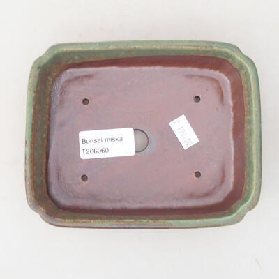 Keramische Bonsai-Schale 15 x 11,5 x 4 cm, Farbe grün - 3