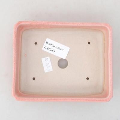 Keramische Bonsai-Schale 13,5 x 11 x 3,5 cm, Farbe rosa - 3