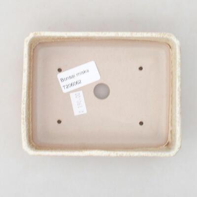 Keramische Bonsai-Schale 13,5 x 11 x 3,5 cm, beige Farbe - 3