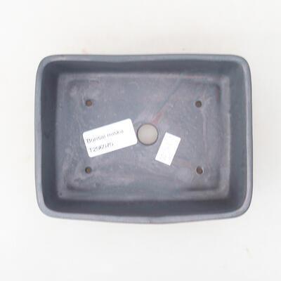 Keramische Bonsai-Schale 14,5 x 11,5 x 4,5 cm, Metallfarbe - 3