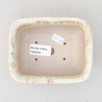 Keramische Bonsai-Schale 13 x 10 x 5 cm, beige Farbe - 3